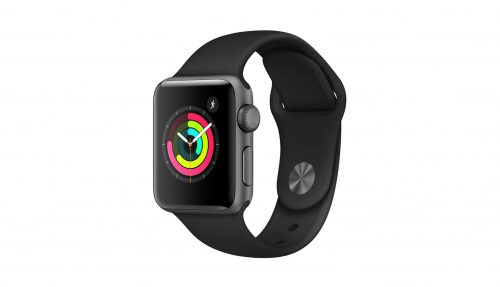 Apple Watch Series 3 GPS MR352 38mm Space Gray Aluminum Case with Gray Sport Band