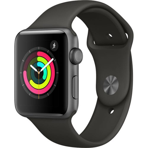 Apple Watch Series 3 GPS MR362 42mm Space Gray Aluminum Case with Gray Sport Band
